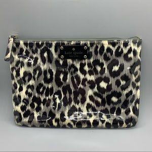Kate Spade Leopard Print Cosmetic Bag
